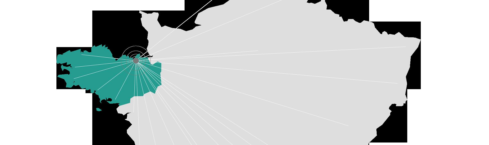 Situation géographique Compote de Com' : Bretagne